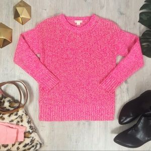 J.Crew Crew Cuts Pink & Gold Knit Girls Sweater 10